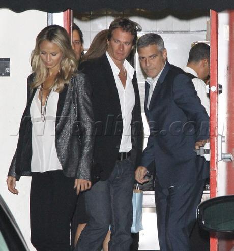 Rande Gerber Cindy Crawford  George Clooney Stacy Keibler craig's double date lexus blonde wwe