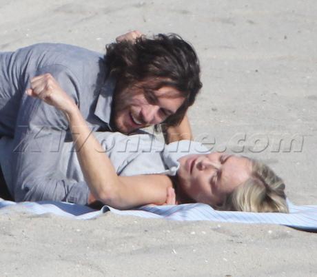 Sharon Stone beach hat yoga cellulite sunglasses