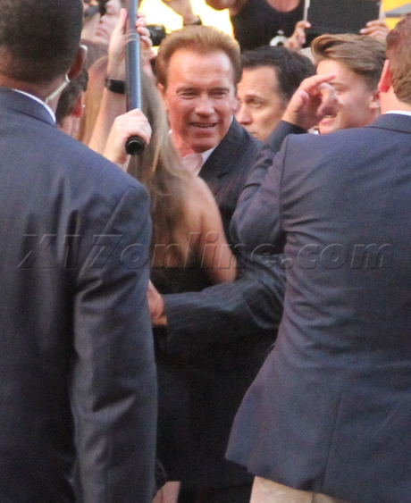 The Expendables 2 premiere red carpet Arnold Schwarzenegger