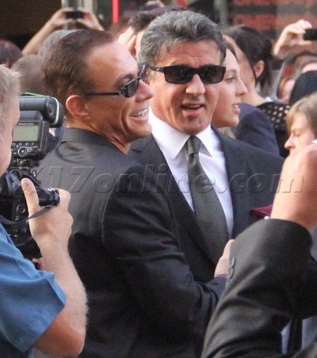 Jean-Claude Van Damme Sylvester Stallone The Expendables 2 premiere red carpet