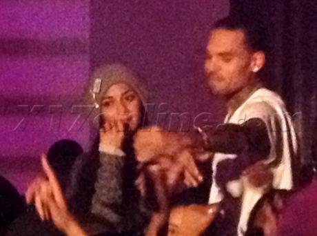 Nicole Scherzinger Chris Brown  supperclub kissing dancing stage rihanna Karrueche Tran
