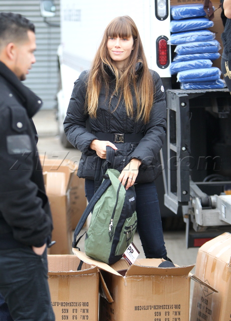 Jessica Biel, Justin Timberlake Rockaway Beach Hurricane Sandy