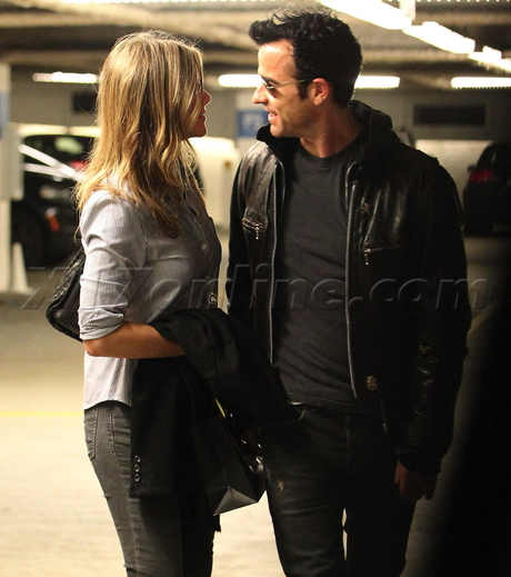 Beverly Hills Jennifer Aniston, Justin Theroux Barney's New York