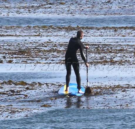 paddle boarding surf wetsuit twilight