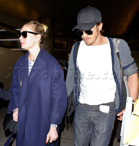 sunglasses jeans Kirsten Dunst  Garrett Hedlund
