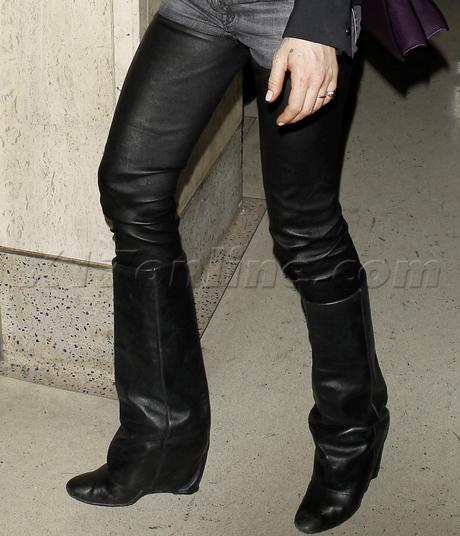 Lindsay Lohan ali lohan airport lax chaps leather sunglasses
