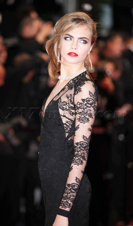 Cara Delevingne Is Lovely In Lace At The Cannes Film