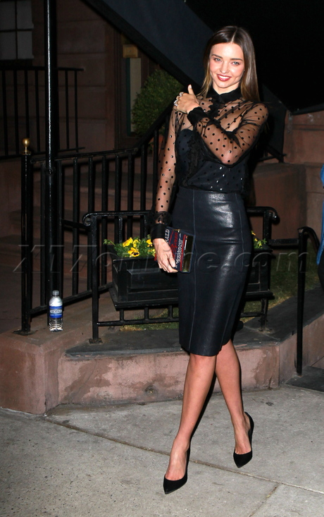 Miranda Kerr F. Scott Fitzgerald The Last Tycoon leather dress Victoria's Secret New York