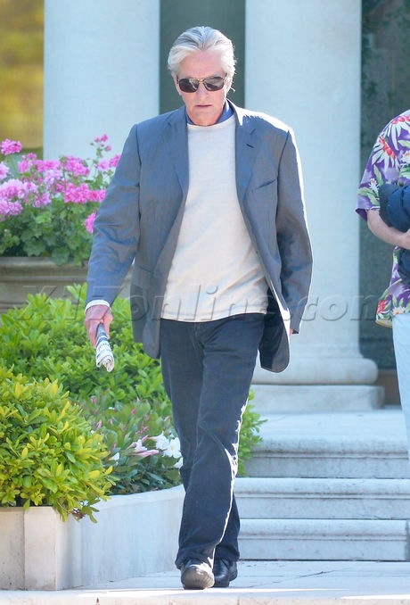 cannes Michael Douglas  tired exhausted blazer cancer