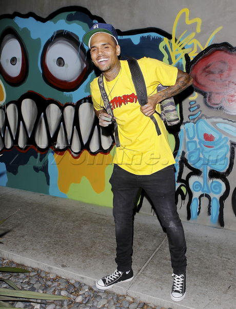 EXCLUSIVE PHOTOS - Chris Brown Finds A Legal Place To Put