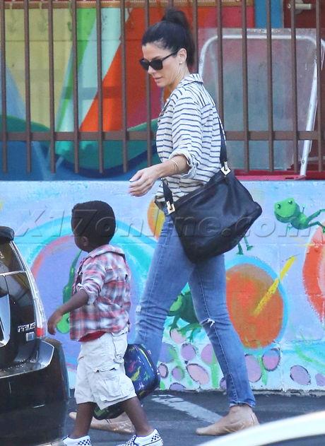 Sandra Bullock Brings Her Baby Boy To School - X17 Online - X17 Online