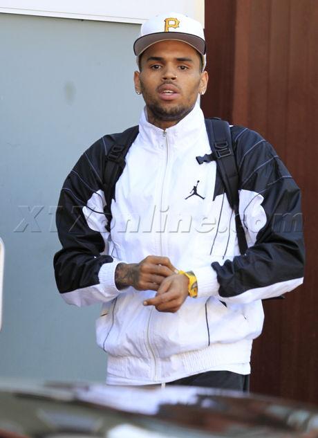 Chris Brown Karrueche Tran luggage hat anger rihanna