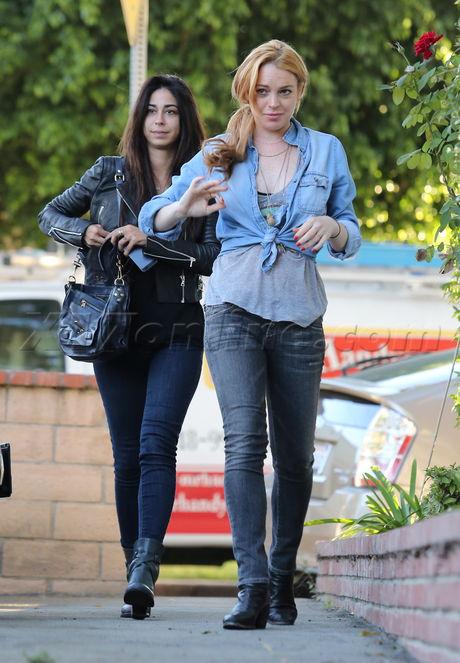 sunglasses Lindsay Lohan jeans boots Courtenay Semel