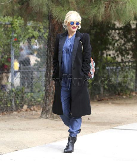 Gwen Stefani Travel Town Museum Griffith Park pregnant Gavin Rossdale Kingston Zuma