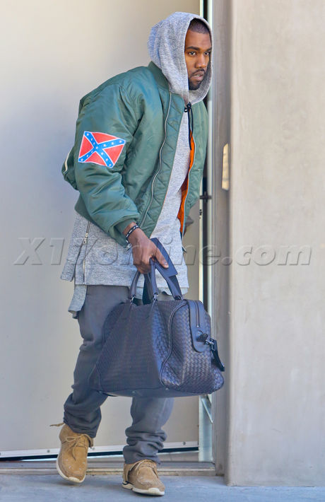 EXCLUSIVE Kanye West Confederate flag boxing gym