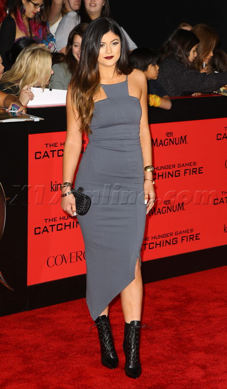 red carpet catching fire Kylie Jenner