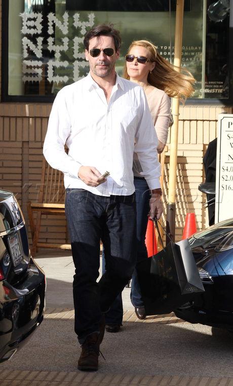 sunglasses Jennifer Westfeldt  Jon Hamm jeans boots Barneys