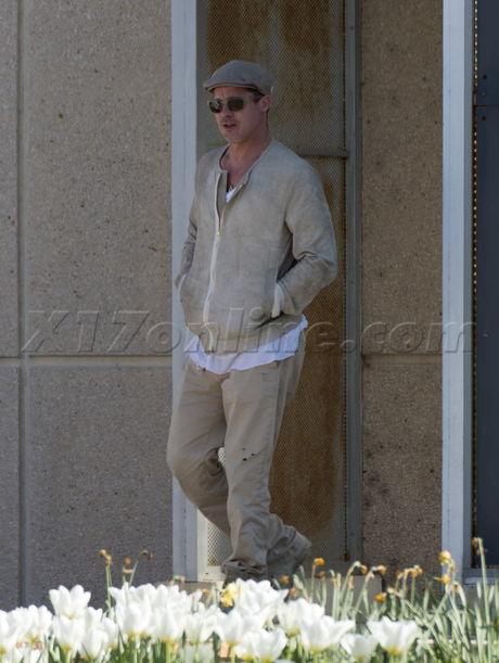 Brad Pitt hat france sunglasses