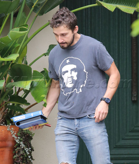 Shia LaBeouf Che Guevara rehab therapy boots coffee Alcoholics Anonymous
