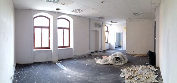 Office before reconstruction