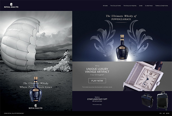 Royal Salute Power and Grace Website