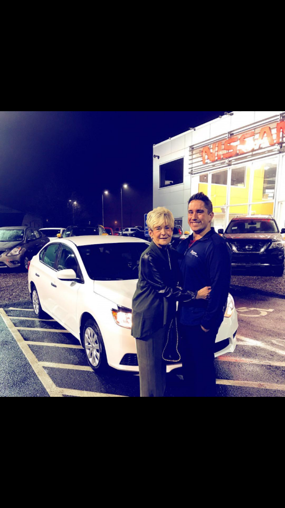 Scott Nail on the right with another happy customer: his grandmother!
