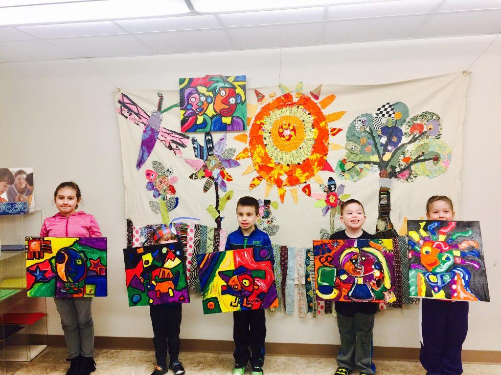 Paint Like Picasso Adult Child Class Winter 2017