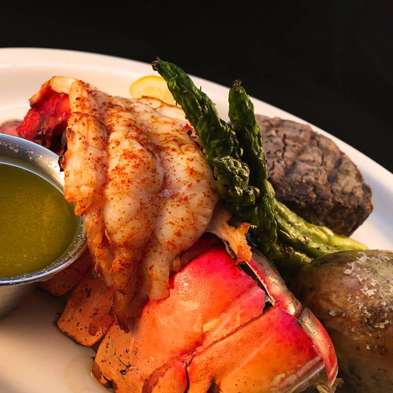 surf and turf at the Wooden Angel