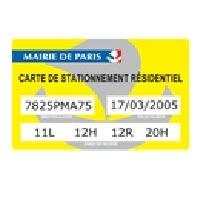 carte stationnement résidentiel paris Carte : Carte Résident Paris