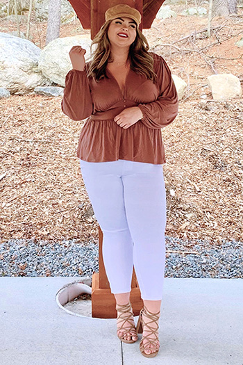 Junior Plus Size Basic High-Rise Ankle Jeans