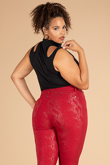 Junior Plus Size Hide Your Muffin Top Hyperstretch Skinny Jeans