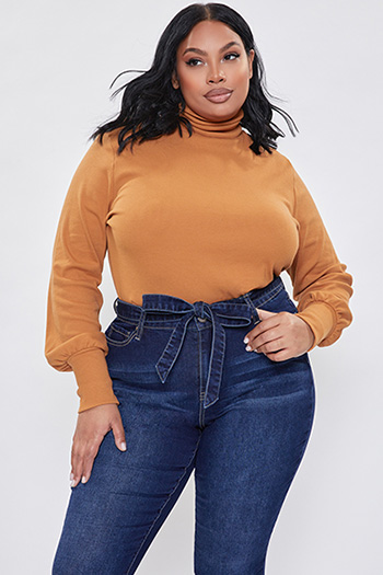 Junior Plus Size High-Rise Frayed Flare Jean With Matching Jean Tie