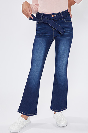Girls Flare Jean With Matching Jean Tie