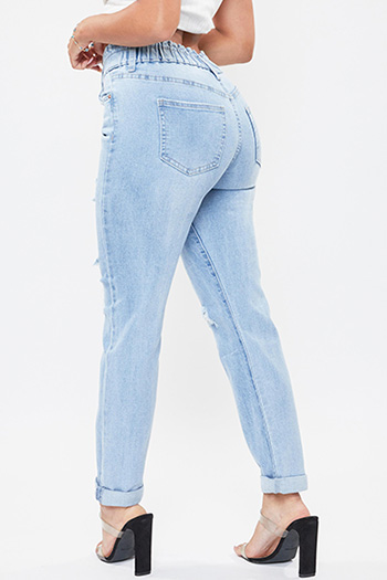 Junior Hybrid Dream Jean With Paperbag Waistband And Rolled Cuff Ankle