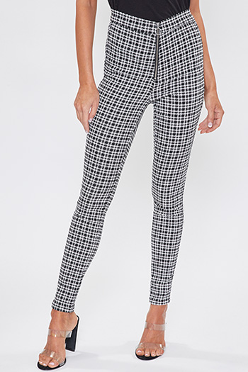 Junior High-Rise Skinny Punk Pant With O Ring Zipper Pull