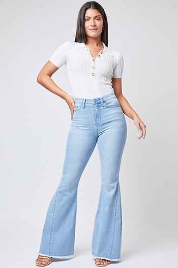 Junior High-Rise Extreme Flare Jean Made With Recycled Fiber