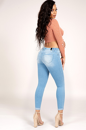 Junior Luxe Lift High-Rise Double Cuffed Ankle Jean