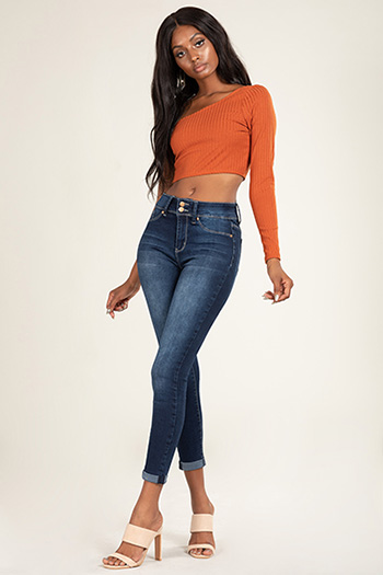 Junior Super Soft 2-Button Mid-Rise Rolled Cuff Ankle Jean