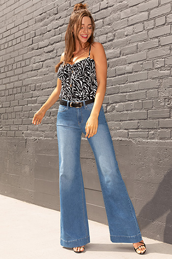Junior Love High-Rise Wide-Leg Stovepipe Jeans