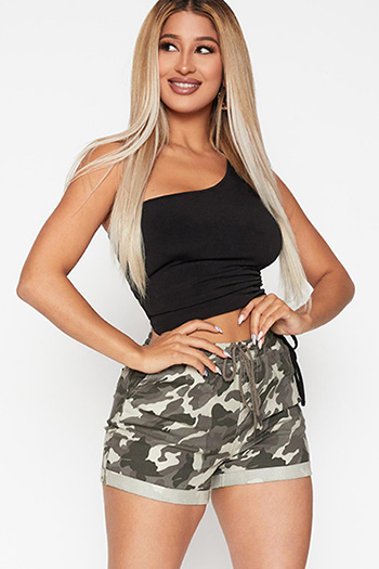 Junior Super High-Rise Rolled Cuff Jogger Shorts With Elastic Waist