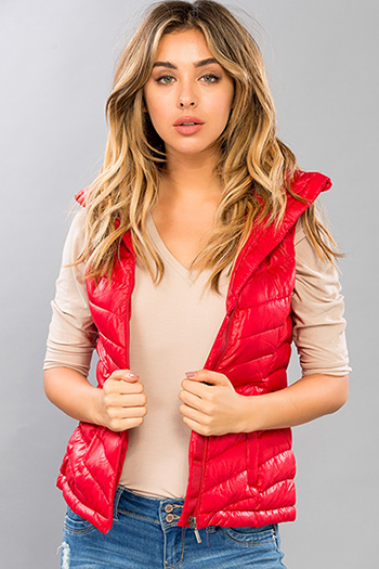 Junior Packable Puffer Vest with Hood