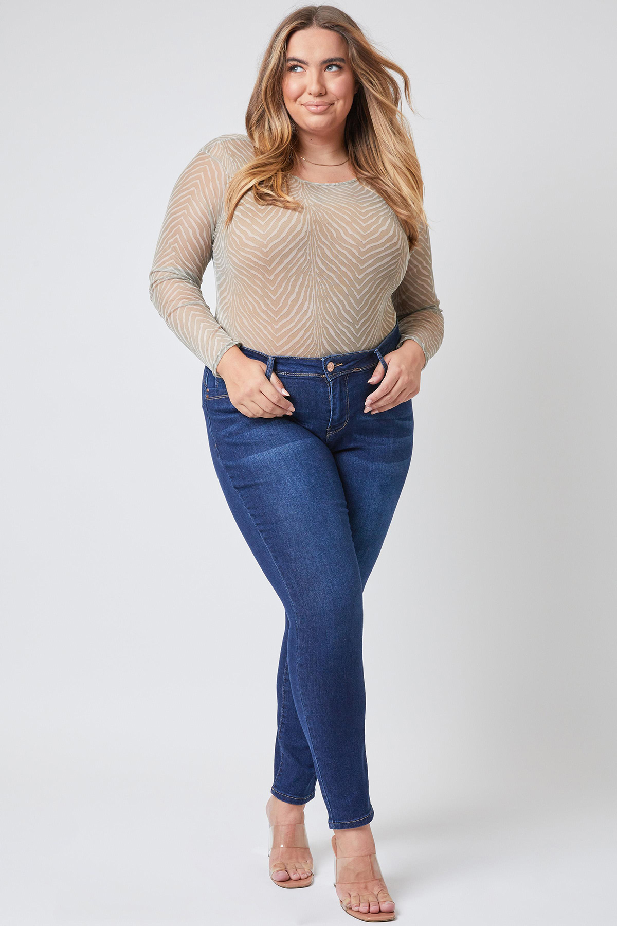 WannaBettaButt Mid-Rise Skinny Jean Made With Recycled Fibers
