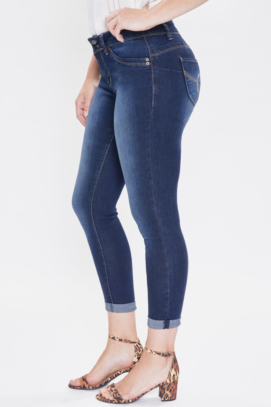 Women WannaBettaButt 2-Button Cuffed Jean