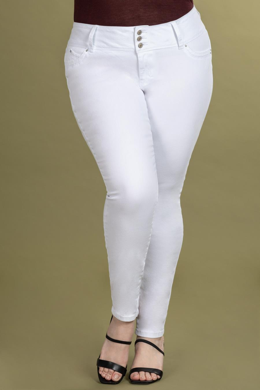 Women Plus Size WannaBettaButt 3-Button Skinny