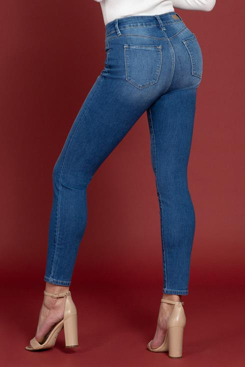 Women Petite Hide Your Muffin Top High-Rise Skinny Jean