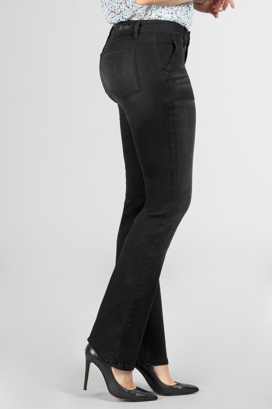 Women Modern Denim Bootcut Jean with Pork Chop Pockets