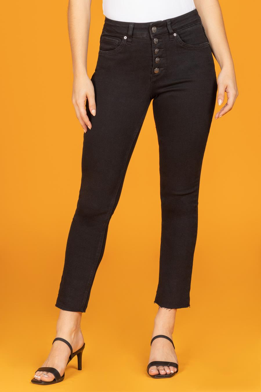 Women Vintage Dream High-Rise Straight Jean With Unfinished Hem