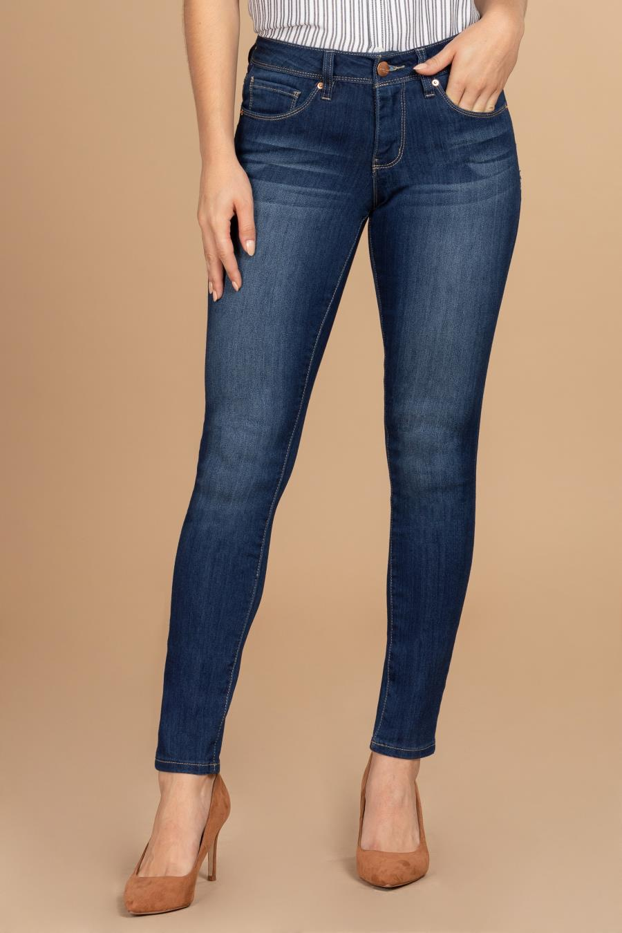 Women Mid-Rise Skinny Jean With Ultimate Stretch