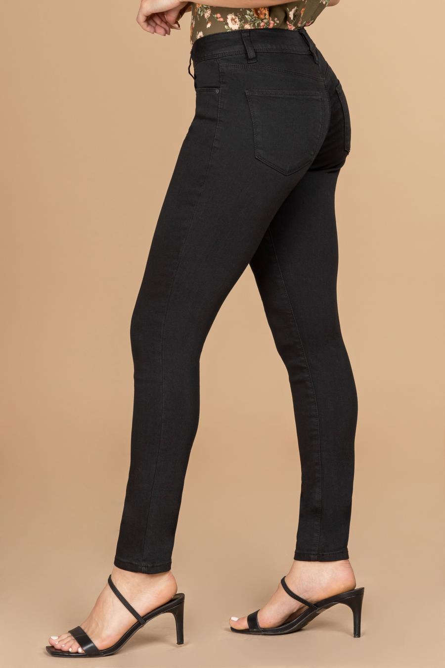 Womens Mid-Rise Straight Jean