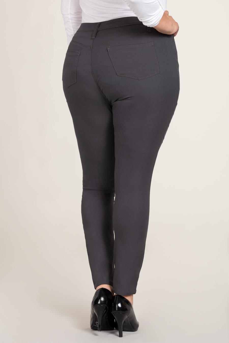 Women Plus Size Hide Your Muffin Top Hyperstretch High-Rise Skinny